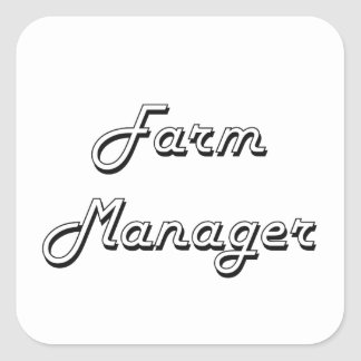 Farm Manager Classic Job Design Square Sticker