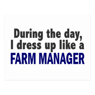 Farm Manager During The Day Post Cards