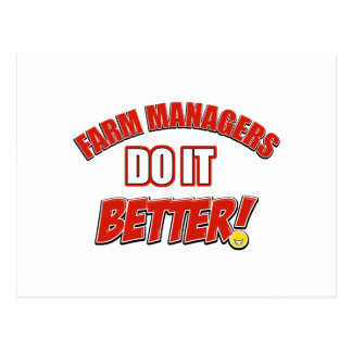 Farm Managers designs Post Card