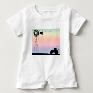 Farm Morning Sky Baby Bodysuit