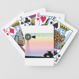 Farm Morning Sky Bicycle Playing Cards