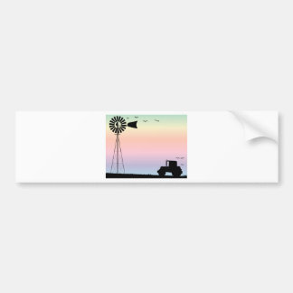 Farm Morning Sky Bumper Sticker