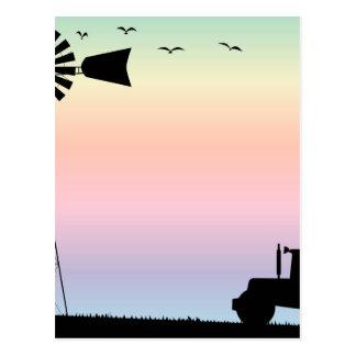 Farm Morning Sky Postcard