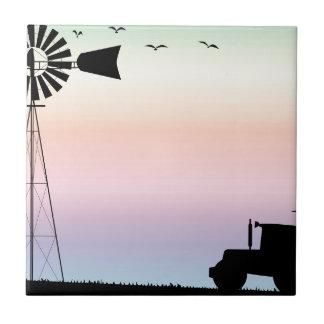 Farm Morning Sky Tile