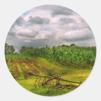 Farm - Organic farming Round Sticker