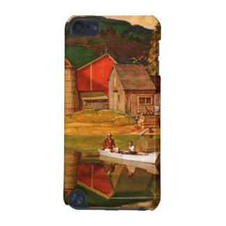 Farm Pond Landscape by Mead Schaeffer iPod Touch 5G Covers