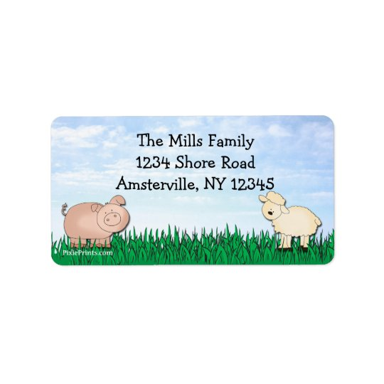 Farm Return Address Label