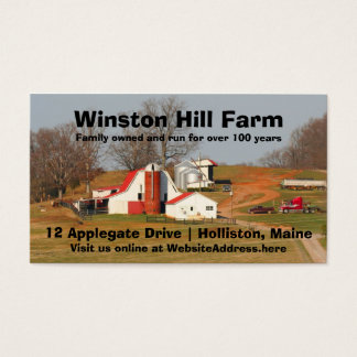 Farm Scene Photo Template Agriculture Business Business Card