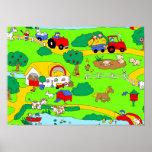 Farm scene print