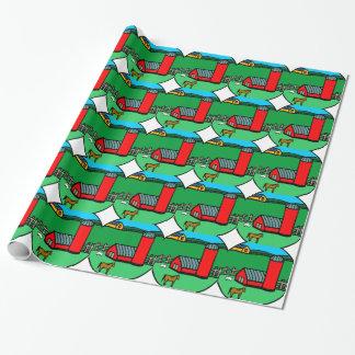 Farm Scene Wrapping Paper