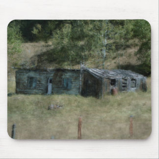 Farm Shed Scene by a Wilderness Ranch Mouse Pad