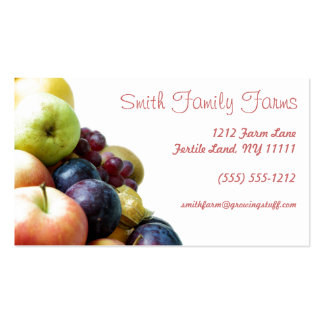 Farm Stand Produce Green Geometric Back Pack Of Standard Business Cards