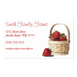 Farm Stand Strawberry Produce Green Geometric Back Pack Of Standard Business Cards