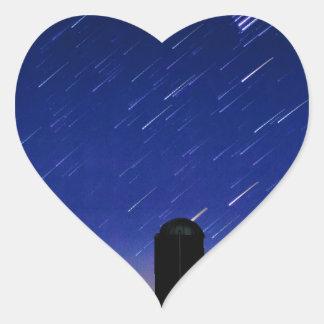 Farm Stars Heart Sticker