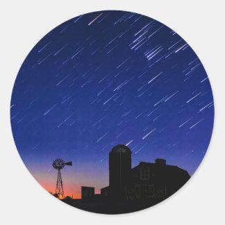 Farm Stars Round Sticker