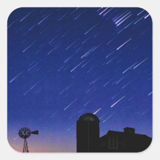 Farm Stars Square Sticker