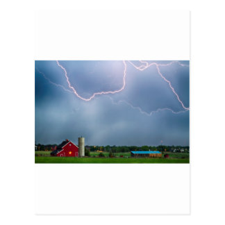 Farm Storm HDR Postcard
