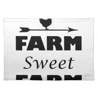 farm sweet farm placemat