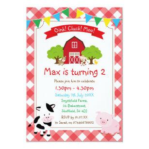 farm theme invitations announcements zazzle au