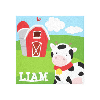 Farm Themed Wall Canvas Personalized with Name Canvas Prints