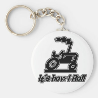 Farm Tractor How I Roll Key Ring