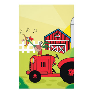Farm Tractor Scrapbook Pages Stationery