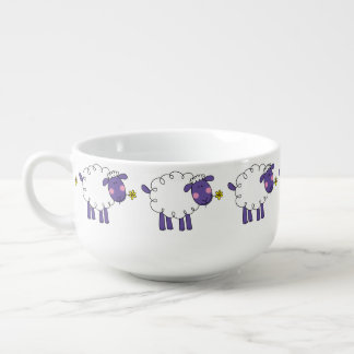 farm woolly sheep soup mug