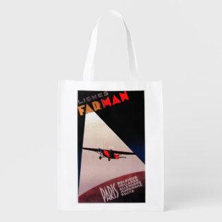 Farman Airlines Farman 300 Monoplane Promo Poste Grocery Bag