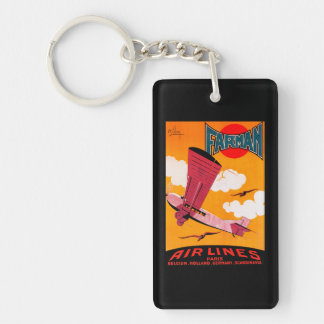 Farman Brothers Airlines F-170 Monoplane Poster Double-Sided Rectangular Acrylic Key Ring