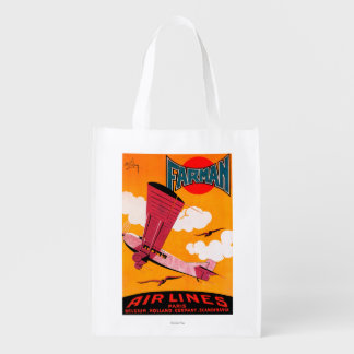 Farman Brothers Airlines F-170 Monoplane Poster Reusable Grocery Bag