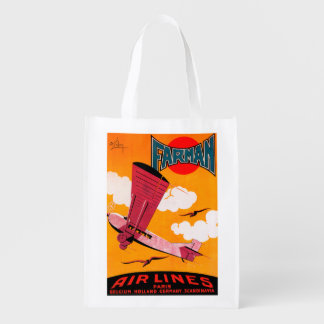 Farman Brothers Airlines F-170 Monoplane Poster Market Totes
