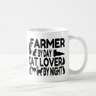 Farmer Cat Lover Basic White Mug