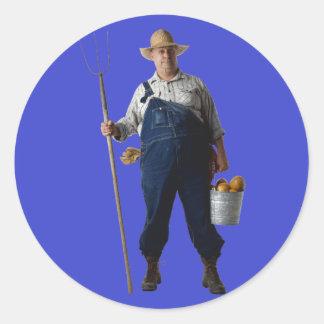 Farmer Classic Round Sticker