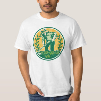 Farmer Gardener With Garden Hoe Cabbage T-Shirt