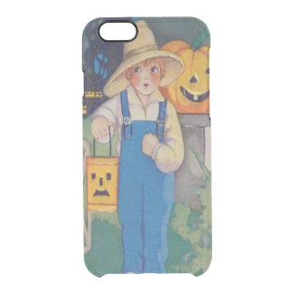 Farmer Girl Smiling Jack O' Lantern Pumpkin Clear iPhone 6/6S Case