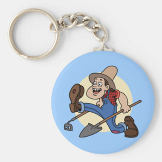 Farmer Green Key Ring