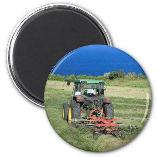 Farmer 6 Cm Round Magnet