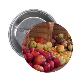 Farmer Market's Apples Pinback Button