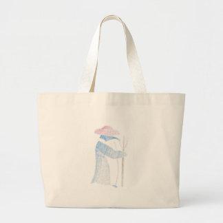Farmer Penguin Large Tote Bag