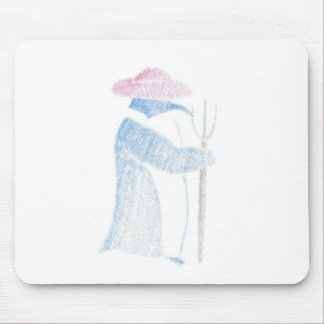 Farmer Penguin Mouse Pad