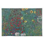Farmergarden w Sunflower by Klimt, Vintage Flowers Placemat