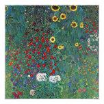 Farmergarden w Sunflower by Klimt, Vintage Flowers Personalized Announcement