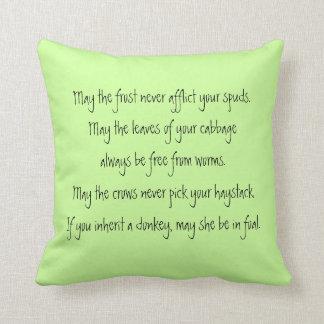 farmers irish blessing throw cushion
