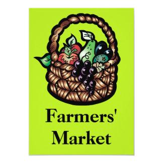 Farmers' Market 13 Cm X 18 Cm Invitation Card