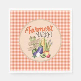 Farmers Market Baby Shower Disposable Serviette
