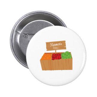 Farmers Market Pinback Button