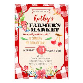 Farmer's Market Birthday Party Invitation