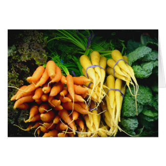 farmers market carrots card