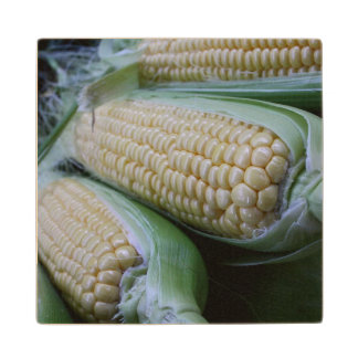 Farmers Market Corn Wood Coaster