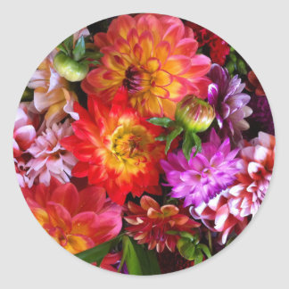 Farmers market flowers classic round sticker